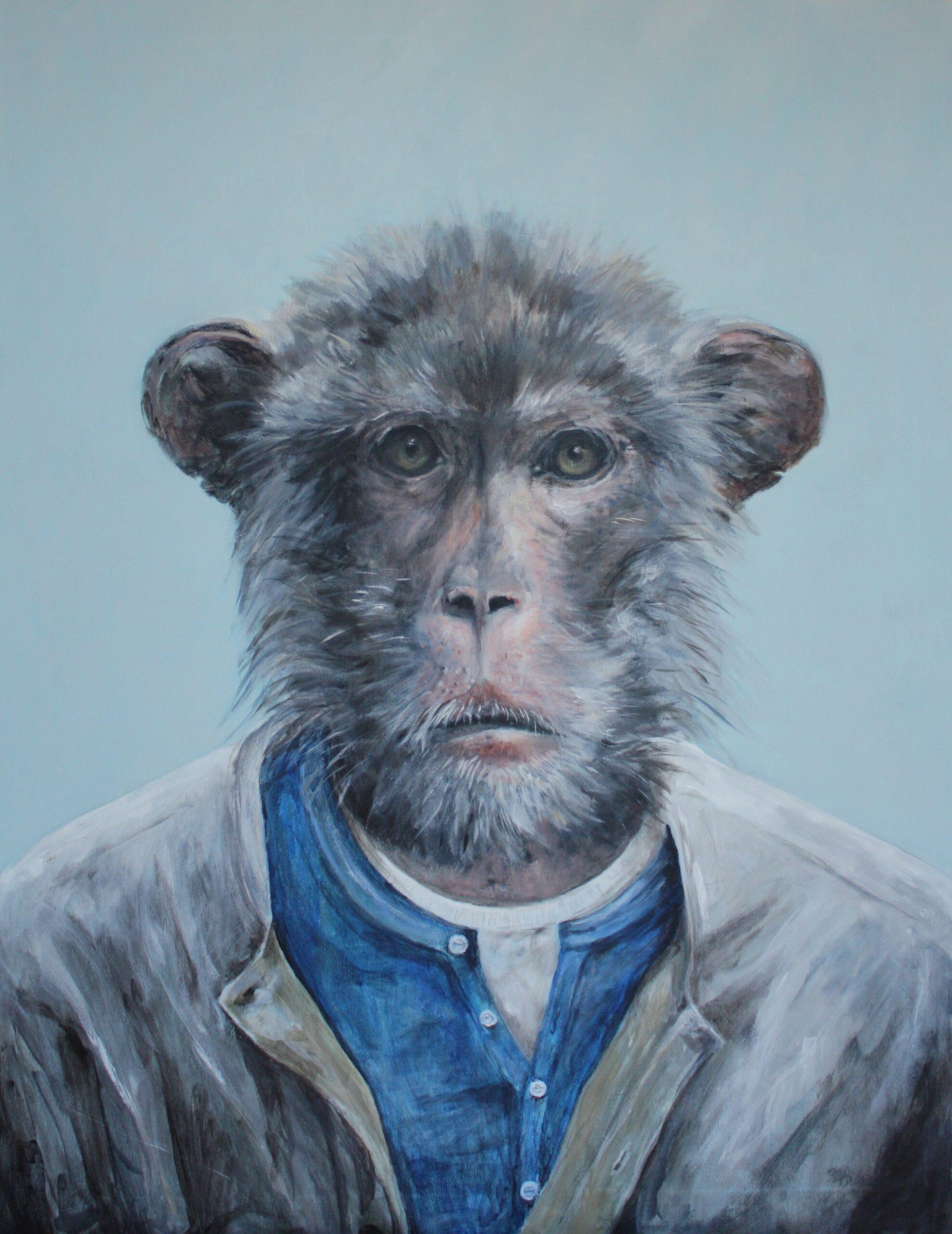 Integritet 90x70 cm akryl på lerret © EmmyHarnes Emmy Harnes billedkunstner billedkunst Haslum Bærum kunstner figurativ kunst antropomorfisk eventyrlig artist art anthropomorphicart