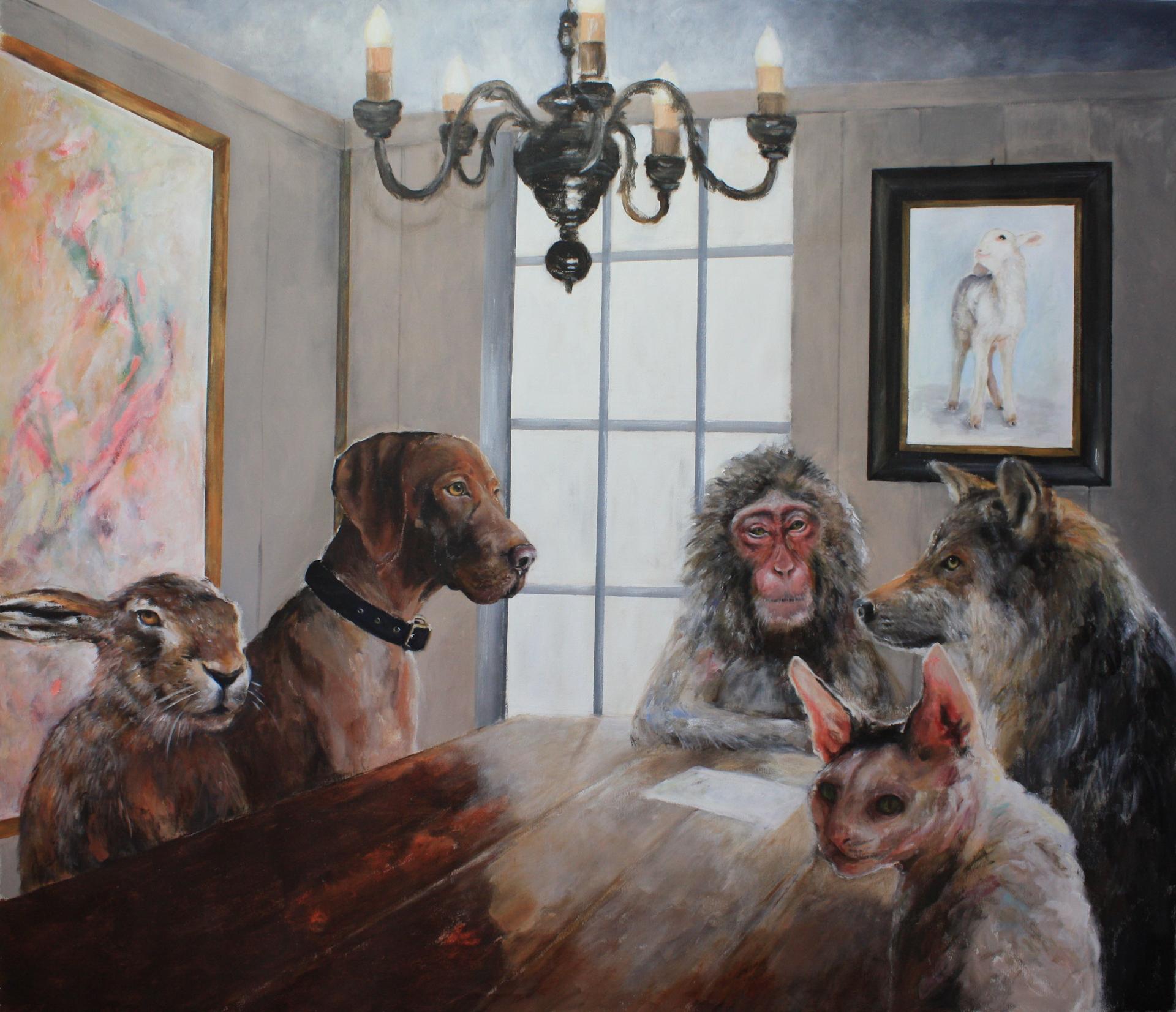 Emmy Harnes billedkunstner Haslum Bærum kunstner figurativ kunst antropomorfisk eventyrlig artist art billedkunst anthropomorphicart