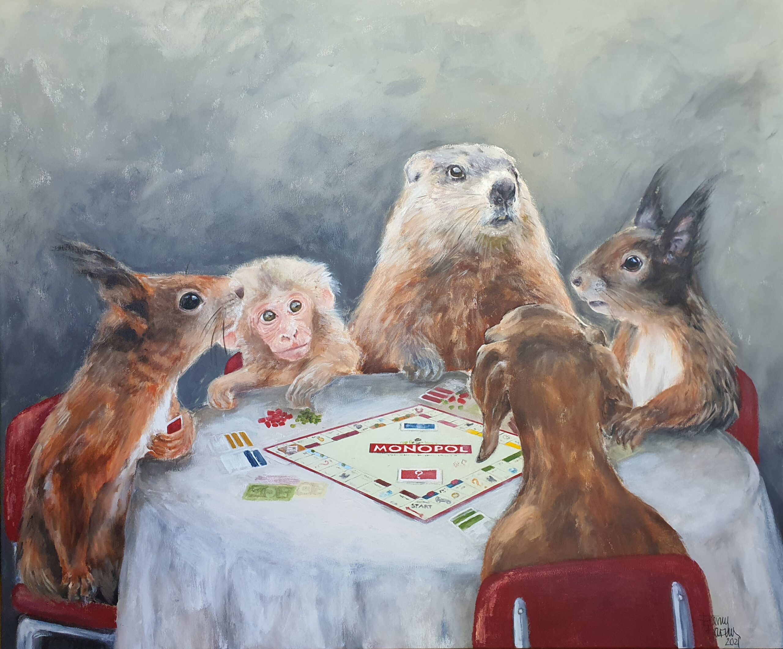 Emmy Harnes billedkunstner billedkunst Haslum Bærum kunstner figurativ kunst antropomorfisk eventyrlig artist art anthropomorphicart